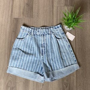 Free People Printed Dogtown Cutoff Denim Shorts 29